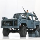 RC Car High Speed Off-Road  Cavalry Jeep Crawler Remote Control Vehicle Off Road All Terrain 1:12 2.4G 4WD Electric RC Buggy with LED Light for On-Road and Off-Road Car RTR Toy blue_Vehicle