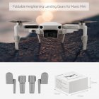 RC Drone Landing Gear Foldable Feet Heightened Stand for DJI Mavic Mini Airplane Shock-absorbing Stabilizer Take-off Protector gray