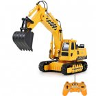 RC Truck Excavator Construction Digger Wireless Bulldozer Remote Control Alloy Excavator Birthday Gift yellow
