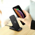 ROCK W3 Pro Qi Wireless Charger For iPhone11 pro XR MAX Fast Charging Docking Wireless Charger Pad for Samsung Note8 S10 S9 Plus black