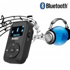 RUIZU X26 8GB Clip Sport Bluetooth MP3 MP4 Music Player OLED Screen Lossless Sound Great Performance Black