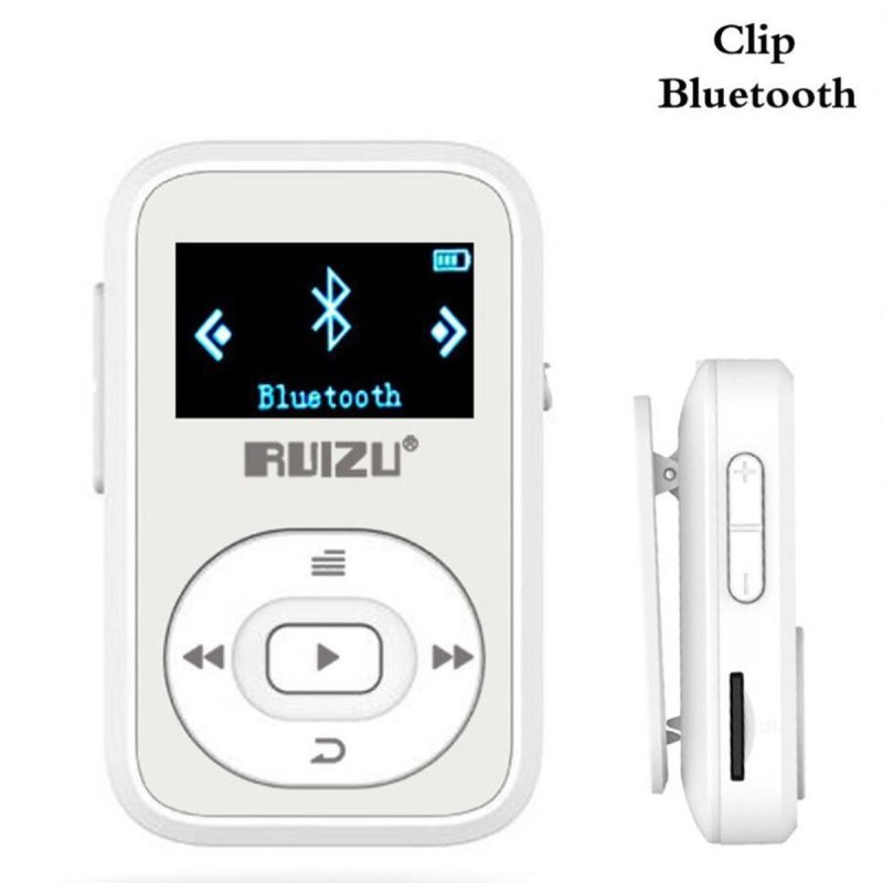 RUIZU X26 8GB Clip Sport Bluetooth MP3 MP4 Music Player OLED Screen Lossless Sound Great Performance White