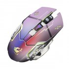 Rechargeable Wireless Silent LED Backlit Gaming Mouse USB Optical Mouse for PC gray