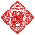 Red Window Sticker for New Year Living Room Bedroom Showcase Door Beautify Decoration xl6313