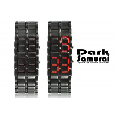 Dark Samurai Red LED Watch