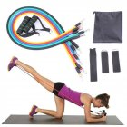 Resistance Band Exercise  Fitness Tube Band Yoga Gym Stretch Pull Rope Pilates Band Workout Fintess Exercise Bands As shown