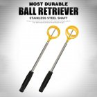 Retractable 2m Telescopic Stainless Steel Shaft Scoop Golf Ball Retriever Golf Accessories LQQ005