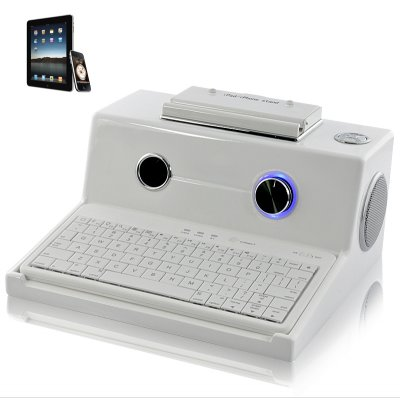 Retro Keyboard + Dock + 5W Speaker