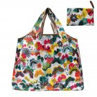 Reusable Foldable Shopping Bags Large Size Tote Bag with Handle Flower Butterfly 108_XL
