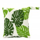 Reusable Printed Pocket Diaper Bag for Travel Sundries Toiletries Cosmetics leaf