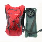 Riding Water Bag Backpack Bicycle 5L Sports Outdoor Riding Bag Cilmbing Travel Shoulders Bag 2.5L water bag + backpack red