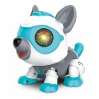 Robot Dog Cute DIY Sing and Dance Parent-child Interactive Toys Blue DIY