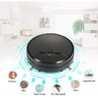 Robot Vacuum Cleaner Strong Suction Intelligent Sweeping Mopping with Timer Function black_26cm