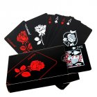 Rose Design Black Pokers Waterproof Playing Cards Collection Gift Pokers default