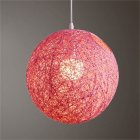 Round Concise Hand woven Rattan Vine Ball Pendant Lampshade Light Lamp Shades Light Accessories 15cm Diameter  Pink