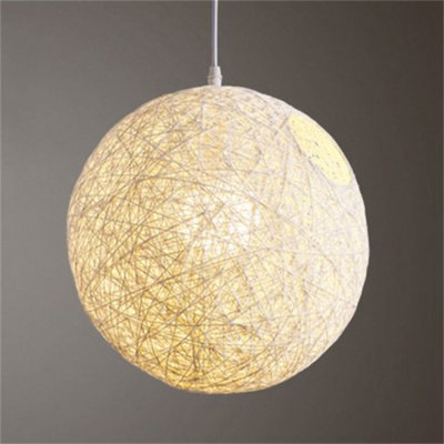 Rattan Vine Ball Pendant Lampshade Light