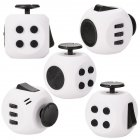 Round Fidget Cube Toy Relieve Stress  Anxiety and Boredom forChildren  Man and Women White Black