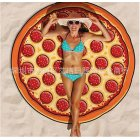 Round Shape Chiffon Beach Towel for Outdoor Camping Mat Pizza_Chiffon (80g)