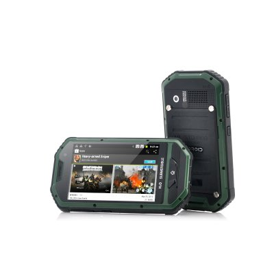 """Rugged Android Phone """"Mastodon"""" 4 inch Screen 1GHz CPU IP 53 Water Resistant"""