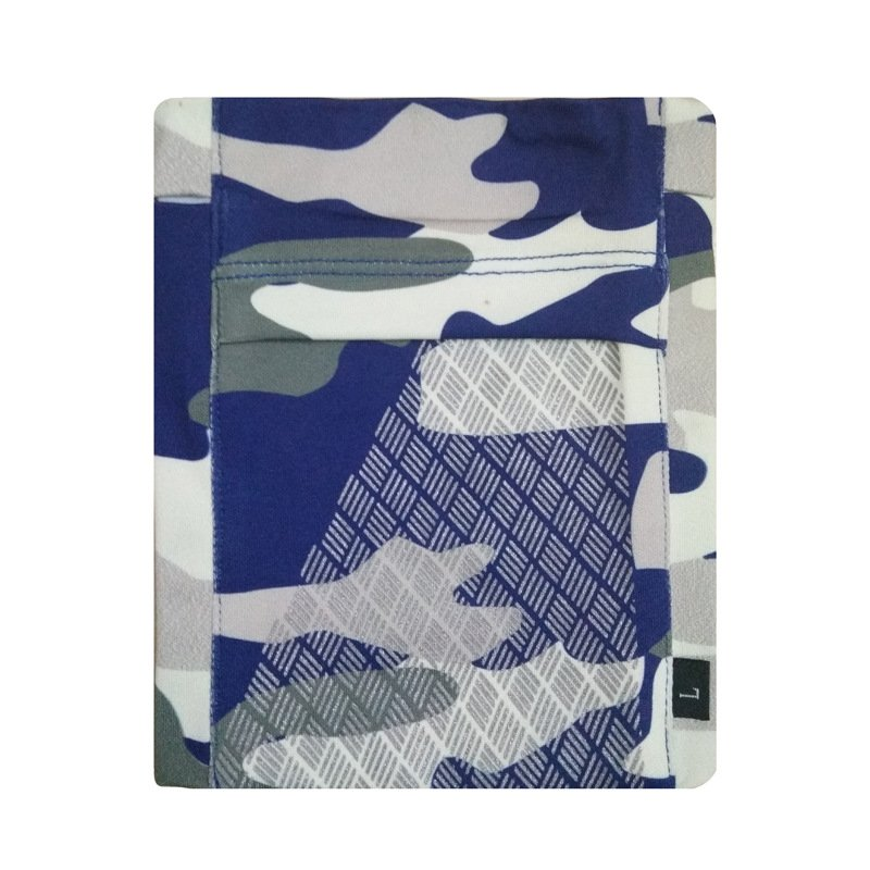 Running Mobile Phone Arm Bag Sports Arm Pocket Fitness Elastic Running Close-fitting Wrist Bag Blue grey camouflage