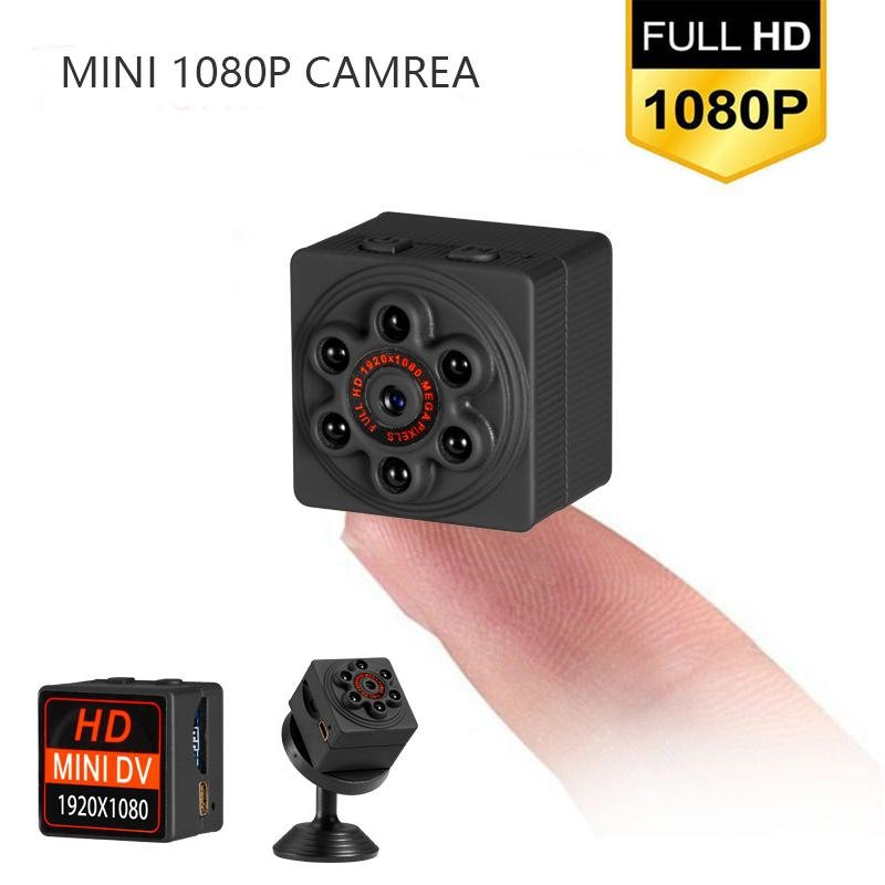 S1000 Mini Camera 1920x1080 Home Security Surveillance Night Vision Remote Monitor Motion Detection Video Camera black
