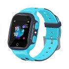 S16 1.44-inch Touch Screen SOS Waterproof Positioning Super-long Standby Smart Children's Telephone Watch blue