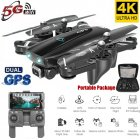 S167 GPS Drone With Camera 5G RC Quadcopter Drone 4K WIFI FPV Foldable Off-Point Flying Gesture Photos Video Helicopter Toy 5G 1080P 2 battery