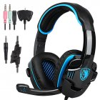 SA-708 GT Gaming Headset Headphone with Microphone for PS4 PC Laptop Computer blue