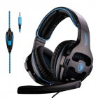 SADES SA-810 3.5mm Stereo Gaming Headset Headphones Multi-platform For PS4 One PC for Mac Laptop Black blue
