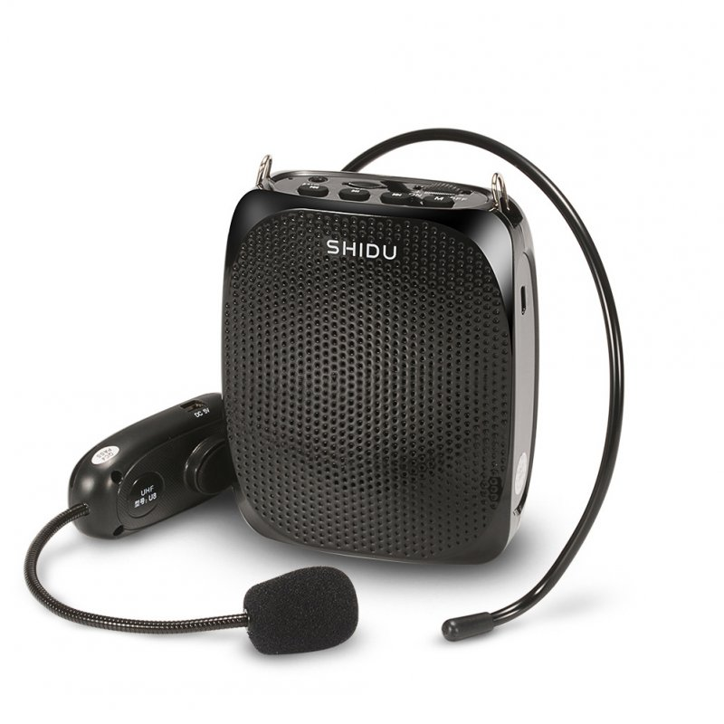 SHIDU 10 Watts Wireless Voice Amplifier-Black
