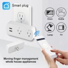 SIMU Alexa Google Home WiFi Smart DC Power Phone Socket US Standard Switche Conversion Plug white_US Plug