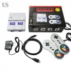SNES HD TV Video Game Console Built-in 821 Games Dual Handheld Retro Wired Controller US plug