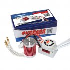 SURPASS HOBBY Platinum Set Waterproof F540 3800KV/3930KV/4370KV Brushless Motor with 45A ESC for 1/10 1/12 RC Car Truck