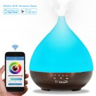 Sangdo Generation Oil Aroma Diffuser  Smart phone App Control  Compatible with Android and IOS  Cool Mist Aroma Humidifier with 7 Colored LED Lights US Plug