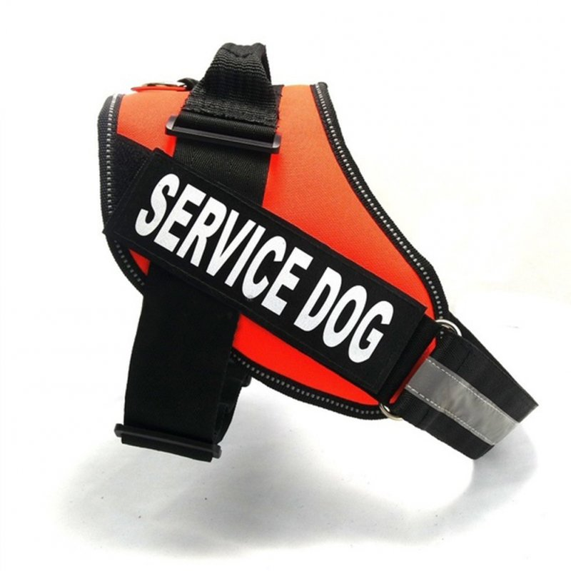 Service Dog Pet Harness for Outdoor Medium Large Satsuma Golden Retriever Dogs Walking Orange_XL