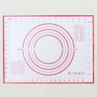 Silicone Baking Mat With Scale Rolling Dough Pad Kneading Dough Mat Non Stick Pastry Oven Liner Bakeware Red 60 * 40cm