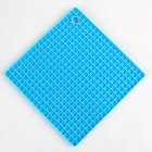 Silicone Pot Holders (Set of 1), Silicone Multi-Purpose Hot Pads Heat Resistant to446 °F, Non-slip, Insulation, Durable, Flexible Trivet for Table Kitchen  blue