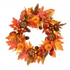 Silk Fall Door Wreath Autumn Berries and Maple Leaf Enhance Home Decor Round  Maple Leaf Wreath)