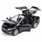 Simulate Alloy Pull back Car Kids Toy with Sound and Light  Function 1:32 Scale Model X 90 black
