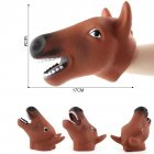 Simulate Animal Hand Puppet Head Hand Puppet Playing Fun Toy for Halloween Prop Home Party Kids Gift A5 horse