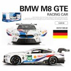 Simulate BMW M8 Racing Car Model Toy Kids Sound Light Alloy Car Model B