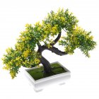 Simulate Potted Plant Cute Microlandschaft Home Office Hotel Decoration   yellow