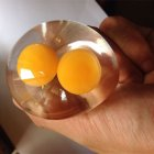 Simulation Double-yolked Egg Water Ball Funny and Prank Tools Adult Release Pressure Toy As shown