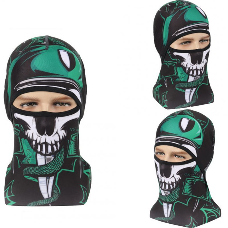 Skull Head Magic Turban Outdoor Sports Cycling Mountaineering Ski Headscarf Warm Breathable Mask 5#_One size