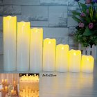 Slant Wave Top LED Electronic Simulate Candle Light Night Light Decoration Diameter 5* Height 12cm