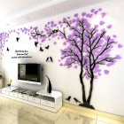 Small Lovers Tree 3D Wall Sticker Artistical Wall Stickers for Family Living Room Bedroom Wall Decoration Right version