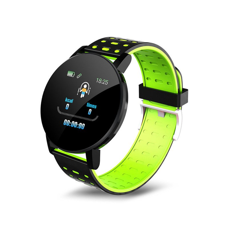 Smart Band Watch Bracelet Wristband Fitness Tracker IP67 Waterproof Smart Bracelet Heart Rate Blood Detection Green