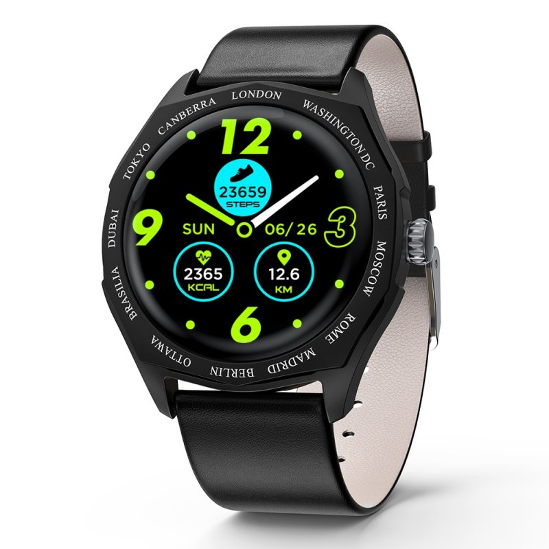 Smart Fitness Bracelet Blood Pressure Measurement Relogio Heart Rate Smart Band Watch Full Touch Screen Smart Watch black
