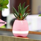 Smart Music Flower Pot Creative Can Play Music Outdoor Household Wireless BT Speaker Pink
