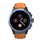 Smart Watch 1.6 Inch Face Unlocking Dual Camera 4G Smartwatch Brown Silicone + Belt